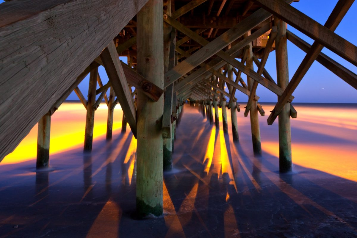Under the Pier - Long Exposure