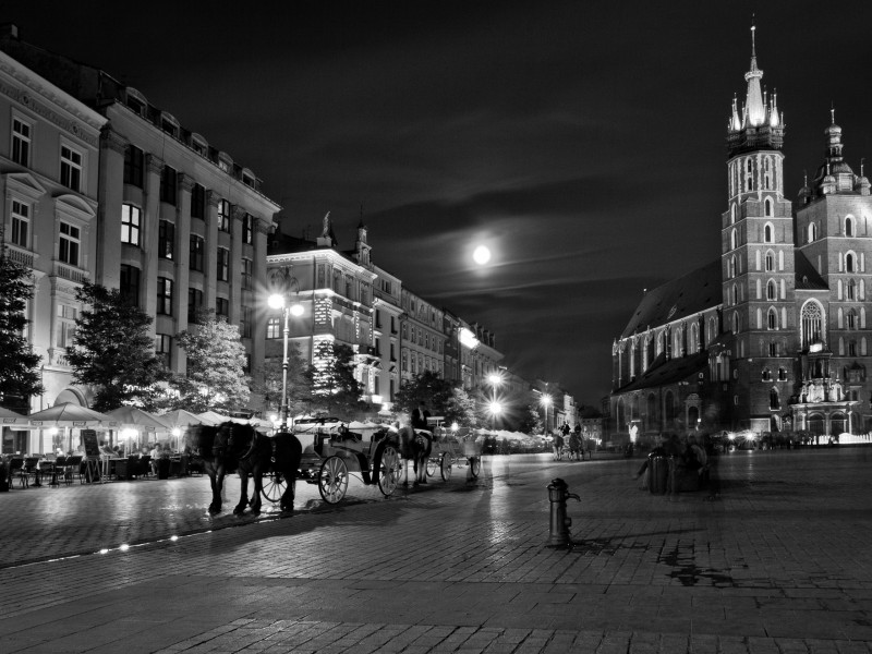 Moon over Krakow